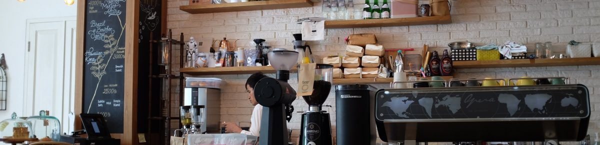 Equipment required for setting up a Coffee Shop